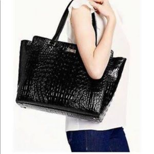 Kate Spade| Elissa Bristol Drive Croc Leather Tote